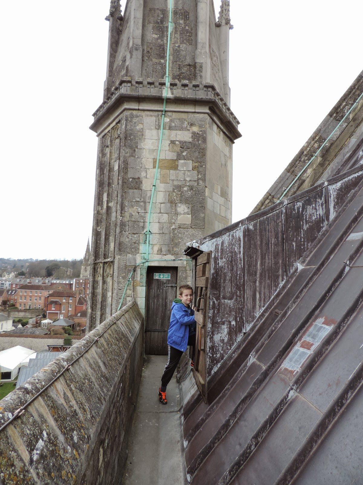 stone spiral staircase winchester cathedral tower tour review