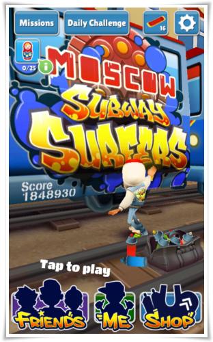 Subway Surfers v1.27 (Juegos 2014)