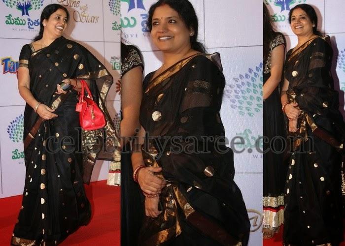 Jeevitha Black Silk Saree