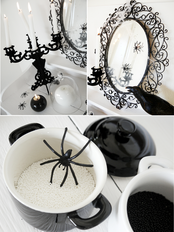 black and white halloween decorating ideas party ideas party