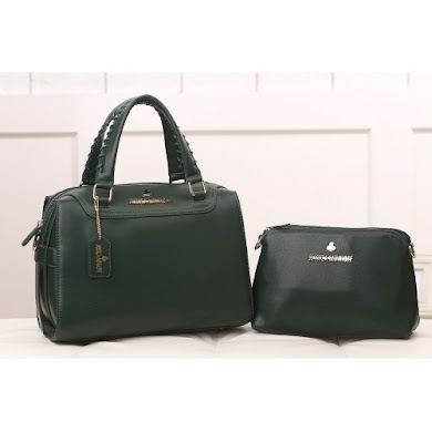 AAA WITH JESSICA MINKOFF LOGO (ARMY GREEN)