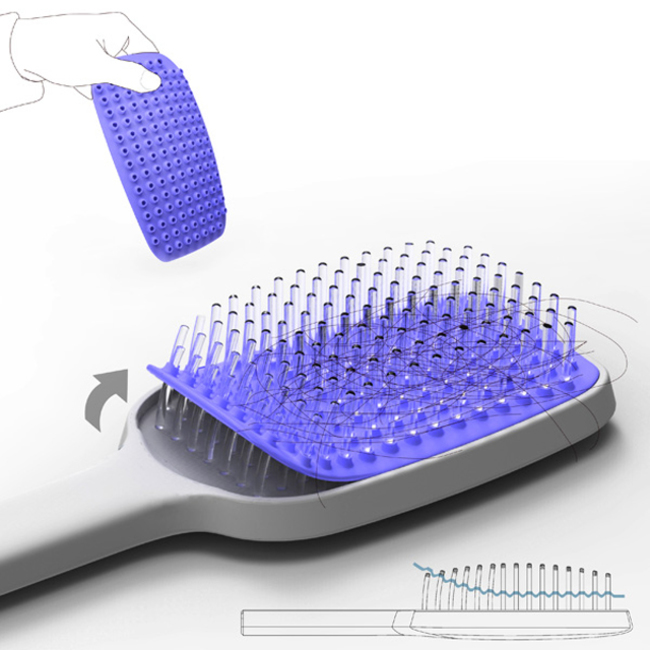 30 Insanely Clever Innovations That Need To Be Everywhere Already - A hair brush that is easy to clean.