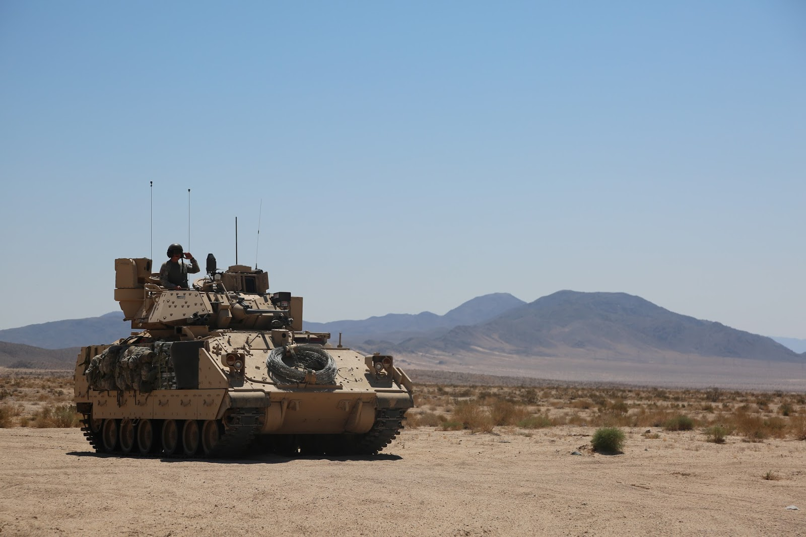 the 116th cavalry brigade combat team cbct has stepped up operations throughout the national training center ntc the mojave desert is echoing with the