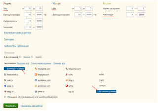 определение средней цены постовых, обзоров и статей по системе Блогун