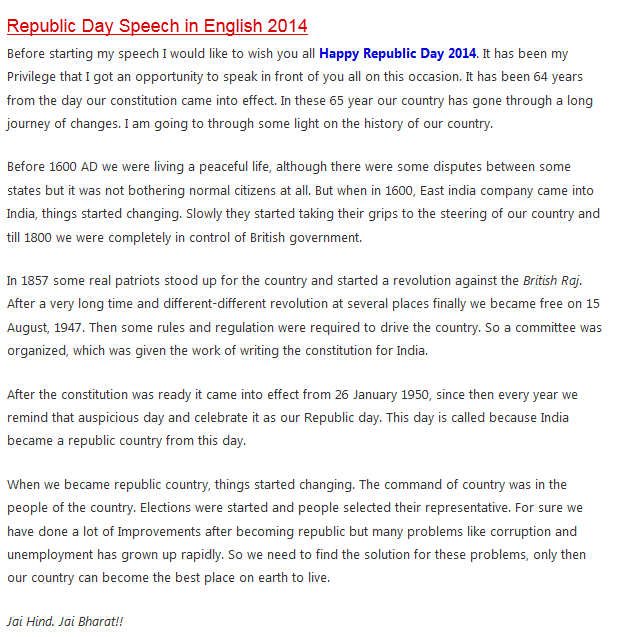 Essay in hindi on republic day images