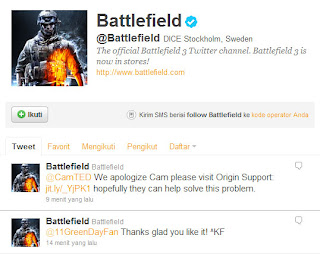 Official Battlefield 3 Twitter