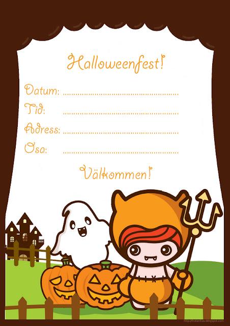 Halloween Inbjudan Da Ar Det Och