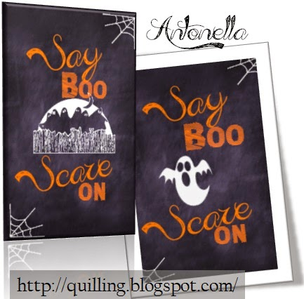 Say Boo and Scare on Free Printbale