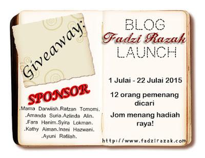 Giveaway Blog Fadzi Razak