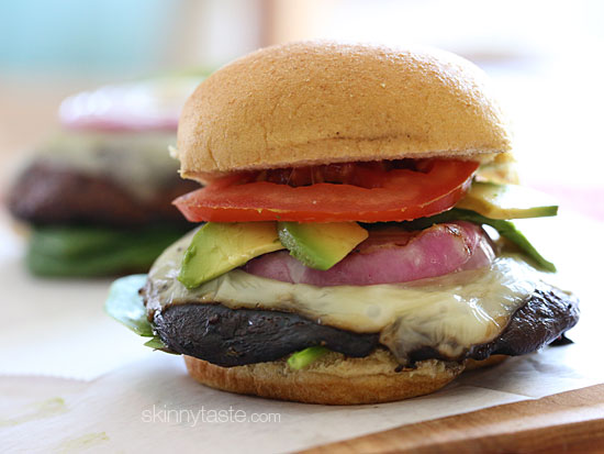 The Best Grilled Portobello Mushroom Burgers | Skinnytaste