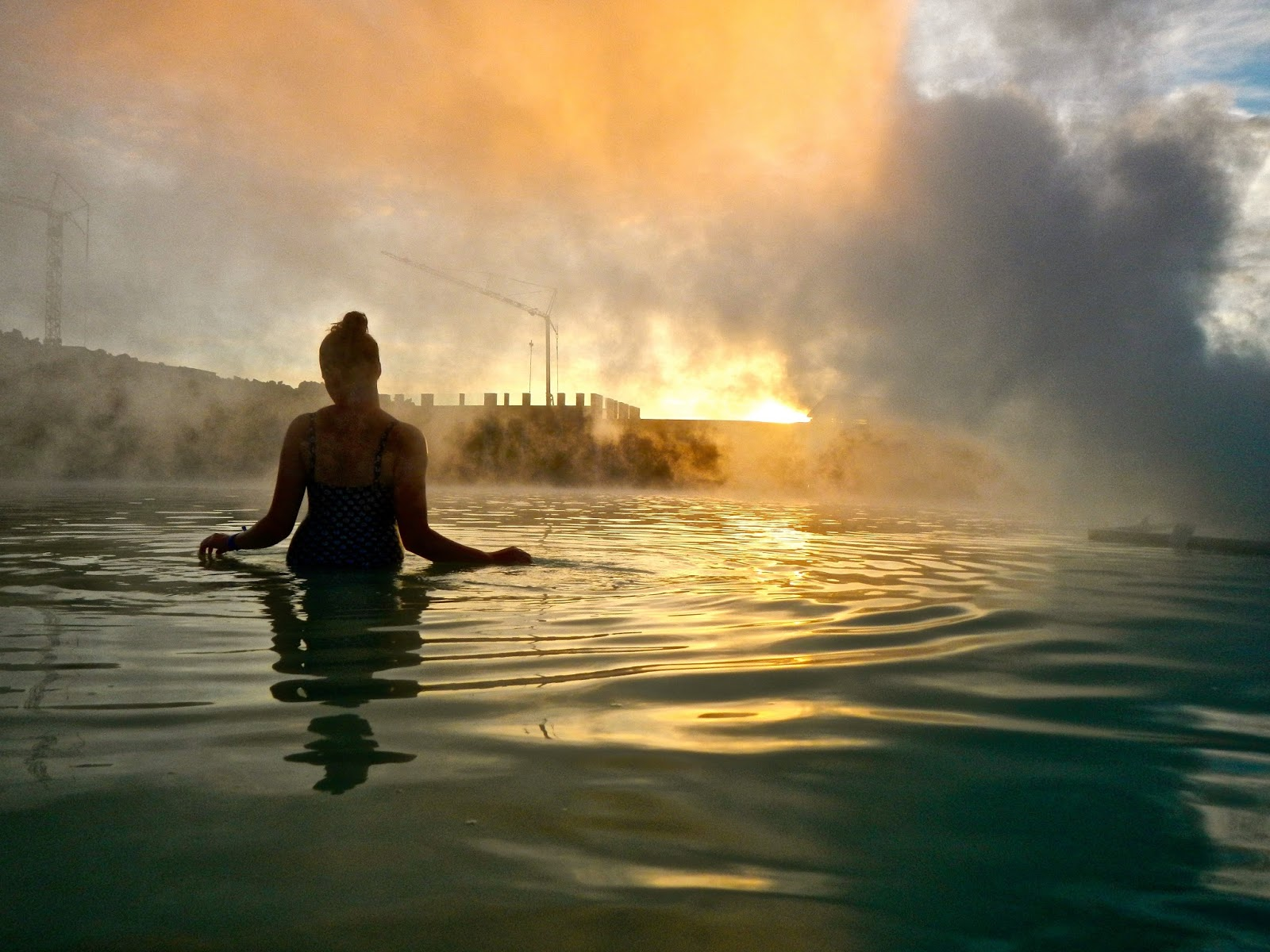 Sunset at the Blue Lagoon Iceland