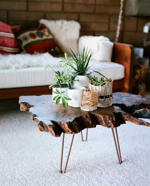 A Hammer & Heels - Worth Stealing: Wood Slab Tables