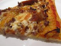 Pizza de setas y salchichas de Ternera