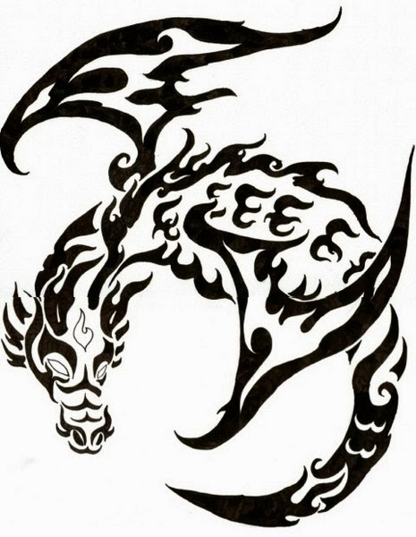 The Best Tribal Dragon Tattoos (Gallery 1)