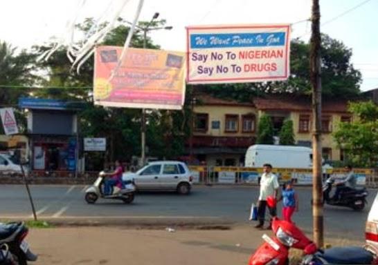 anti nigeria banner india