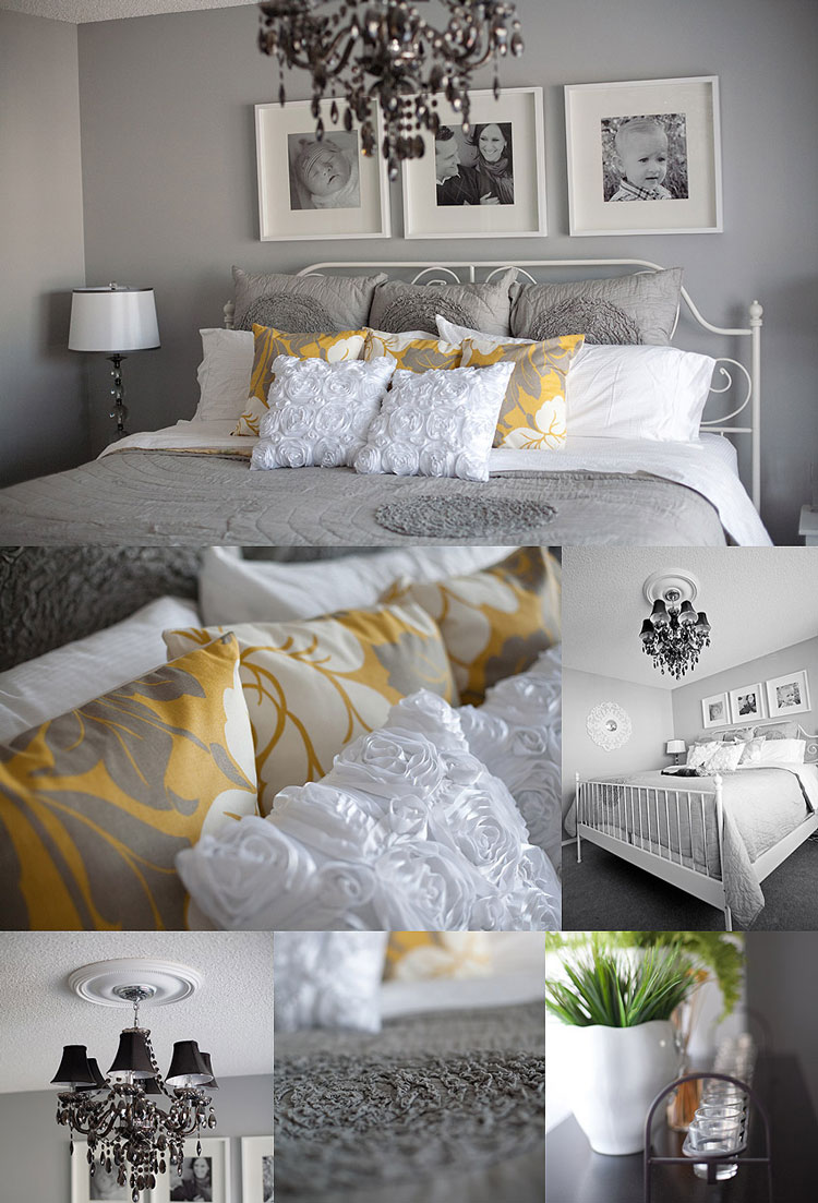 Who i share it with master bedroom planning for Gray and yellow bedroom