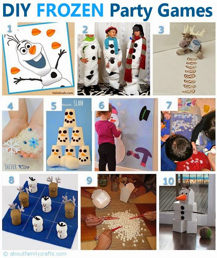 http://aboutfamilycrafts.com/diy-frozen-birthday-party-ideas/