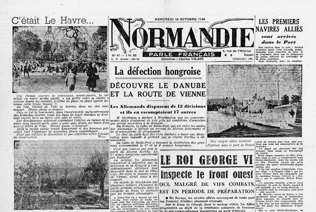 Ma tres du vent mdv 18 octobre 1944 les premiers cargos alli s sont arri - Journal de normandie ...