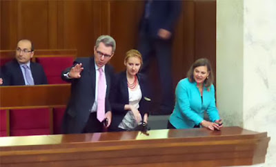 Ambassador to Ukraine Pyatt and US State Department spokesman Nuland in the Verkhovna Rada