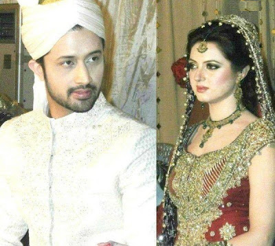pakistancelebrities.blogspot.com - Atif Aslam With Sara Shadi Pictures Album 6