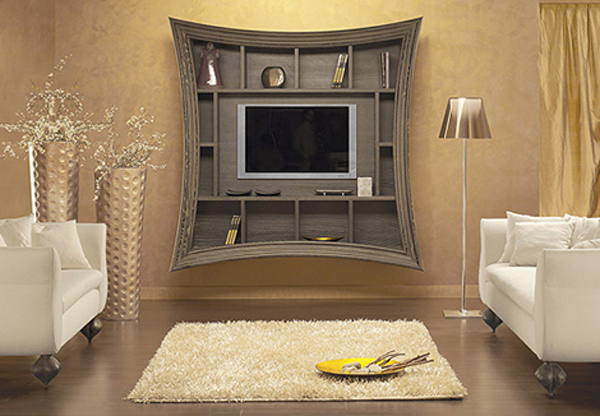 Flat Screen TV Wall Shelves