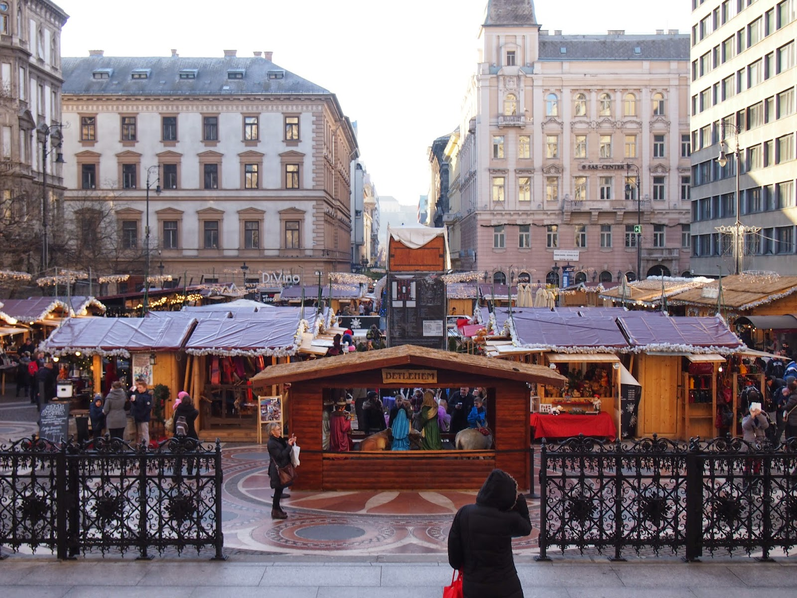 A Christmas Market in Budapest