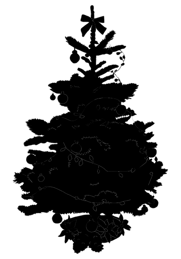 Stock pictures christmas tree silhouette