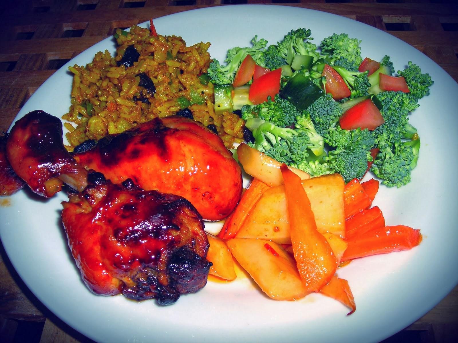 Søde og spicy kyllingelår