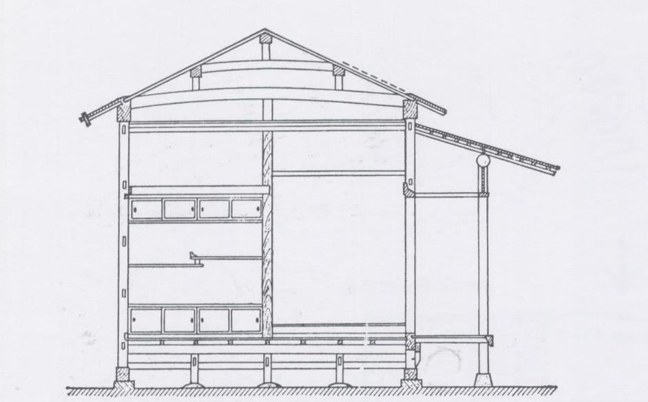 A proyectos 2 taut en jap n la arquitectura for Tejado madera hundido