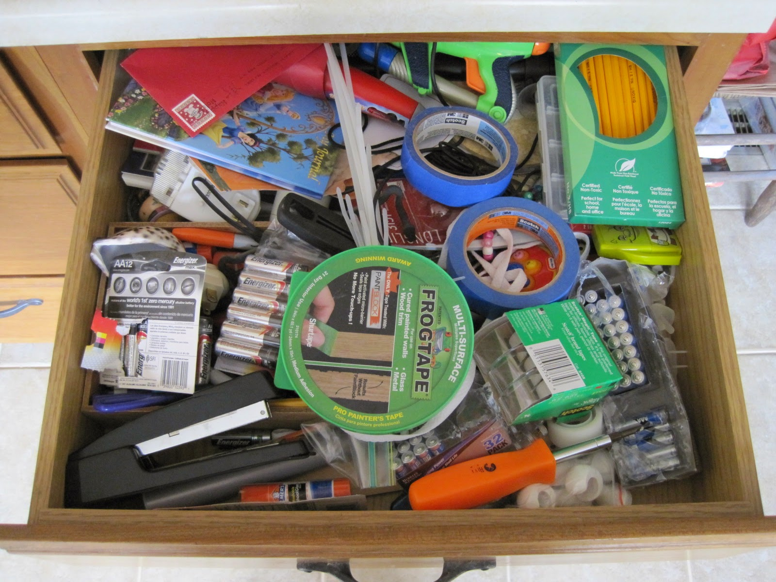 Clever crafty cookin 39 mama junk drawer organization for Kitchen junk drawer