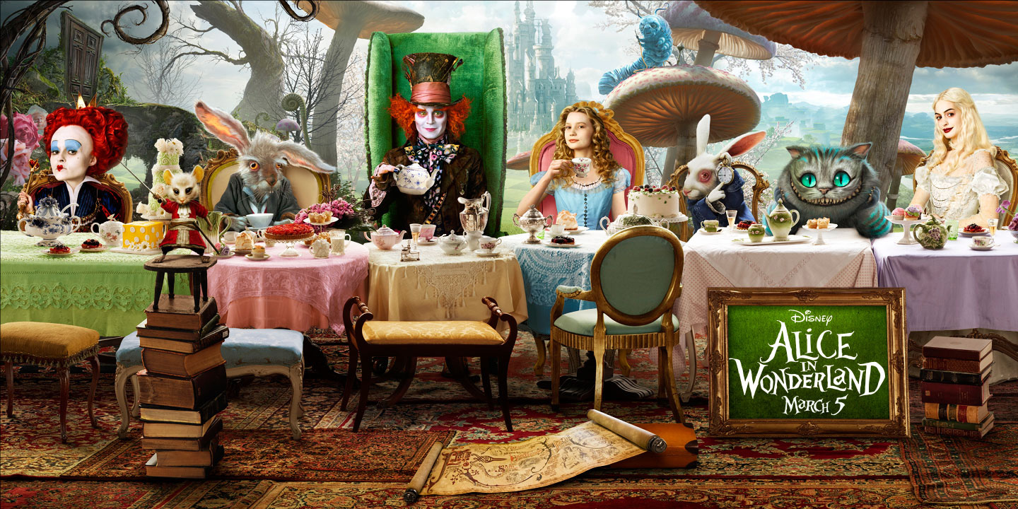 alice in wonderland mad hatter tea party images
