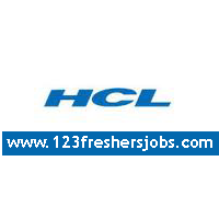 HCL Recruitment Drive in Chennai 2015