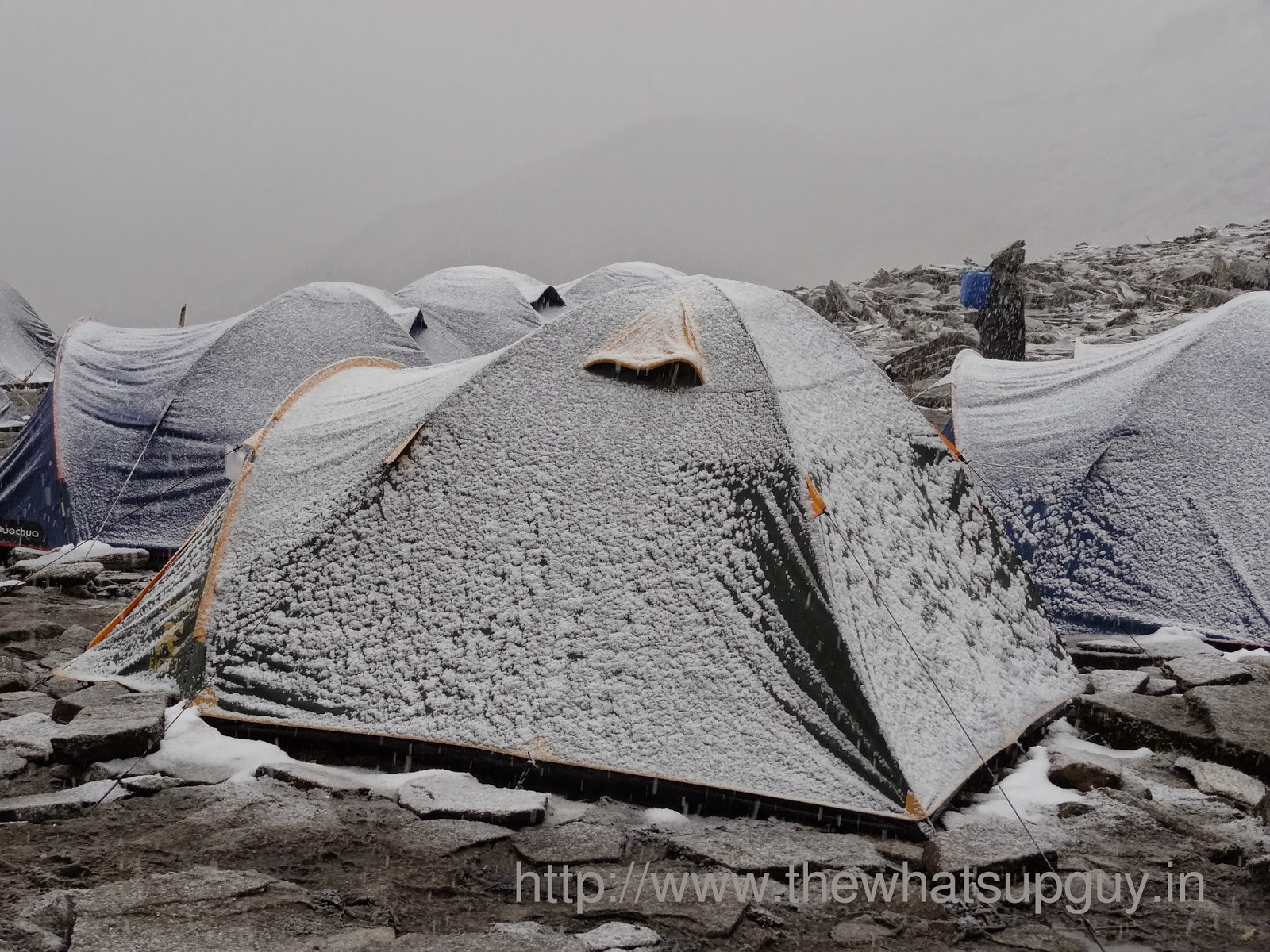 Snow Covered Tent Roopkund Trek With India Hikes Day 4
