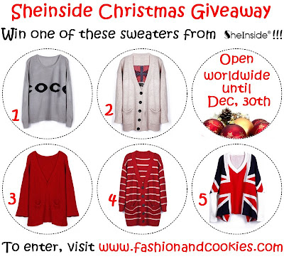 Sheinside christmas giveaway on Fashion and Cookies