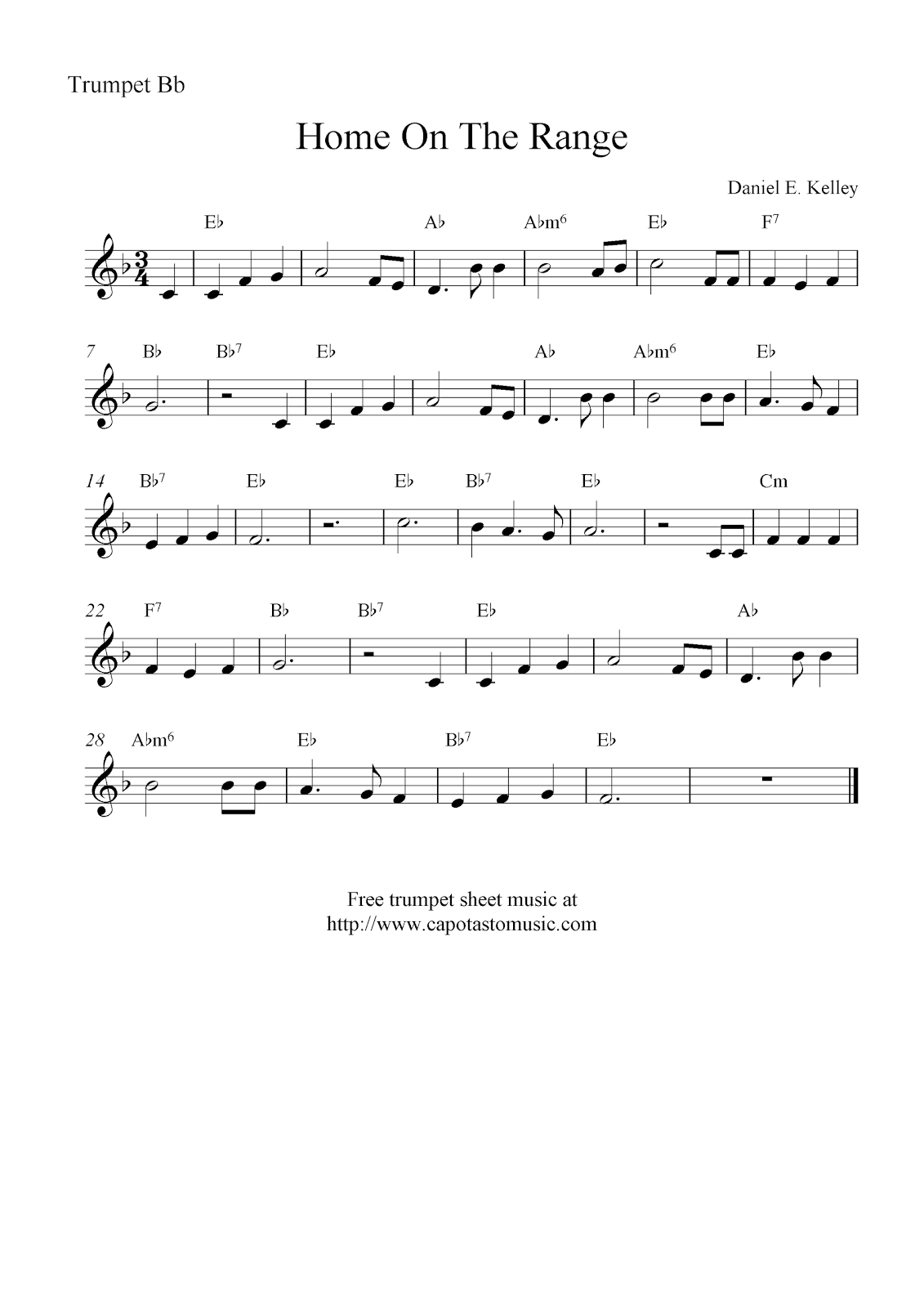 This is a photo of Critical Free Printable Sheet Music for Trumpet
