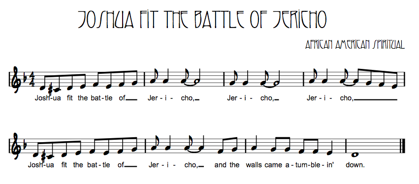Song Joshua Fit The Battle of Jericho Joshua Fit The Battle of