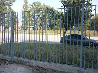 Забор металлический из профильной трубы. Фото 18
