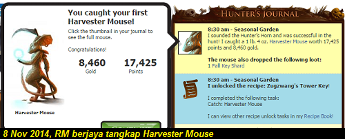 Berjaya tangkap Harvester Mouse