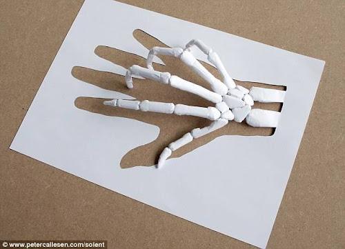 Patung 3D dengan  Selembar Kertas