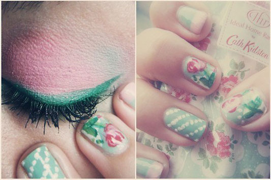 I do it yourself diy beauty floral nails diy beauty floral nails solutioingenieria Gallery