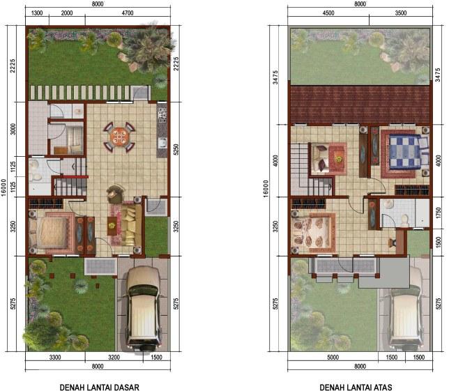 Sketsa Denah Rumah Sederhana 2 Lantai Minimalis
