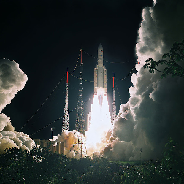 The 50th Launch of Ariane 5 at 6:01 pm EDT on May 21, 2010