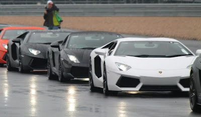 Lamborghini Parade Lap at Blancpain Race Series Silverstone UK