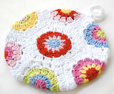 free crochet pattern hexagon potholder