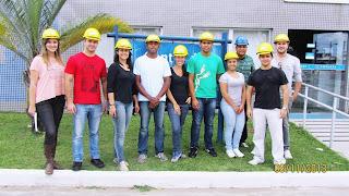 Visita dos estudantes de Engenharia de Teresópolis na ETE-Estação de Tratamento de Esgoto da Barra