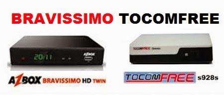 NOVA ATT  AZBOX BRAVISSIMO TWIN EM TOCOMFREE S928S V3.2.4 DESTRAVADA - 26.04.2015