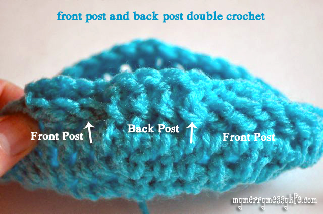 Crochet Stitches Back Post Double Crochet : Front Post and Back Post Double Crochet Tutorial {free crochet ...