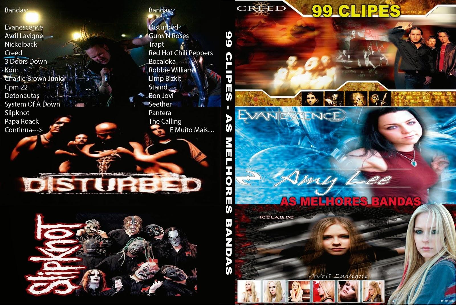 99 Clipes - As Melhores Bandas Do Planeta DVD Capa