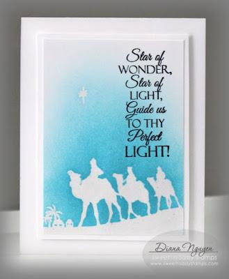 Diana Nguyen, Sweet 'n Sassy Stamps, We Three Kings, wise men, Christmas, card, CAS