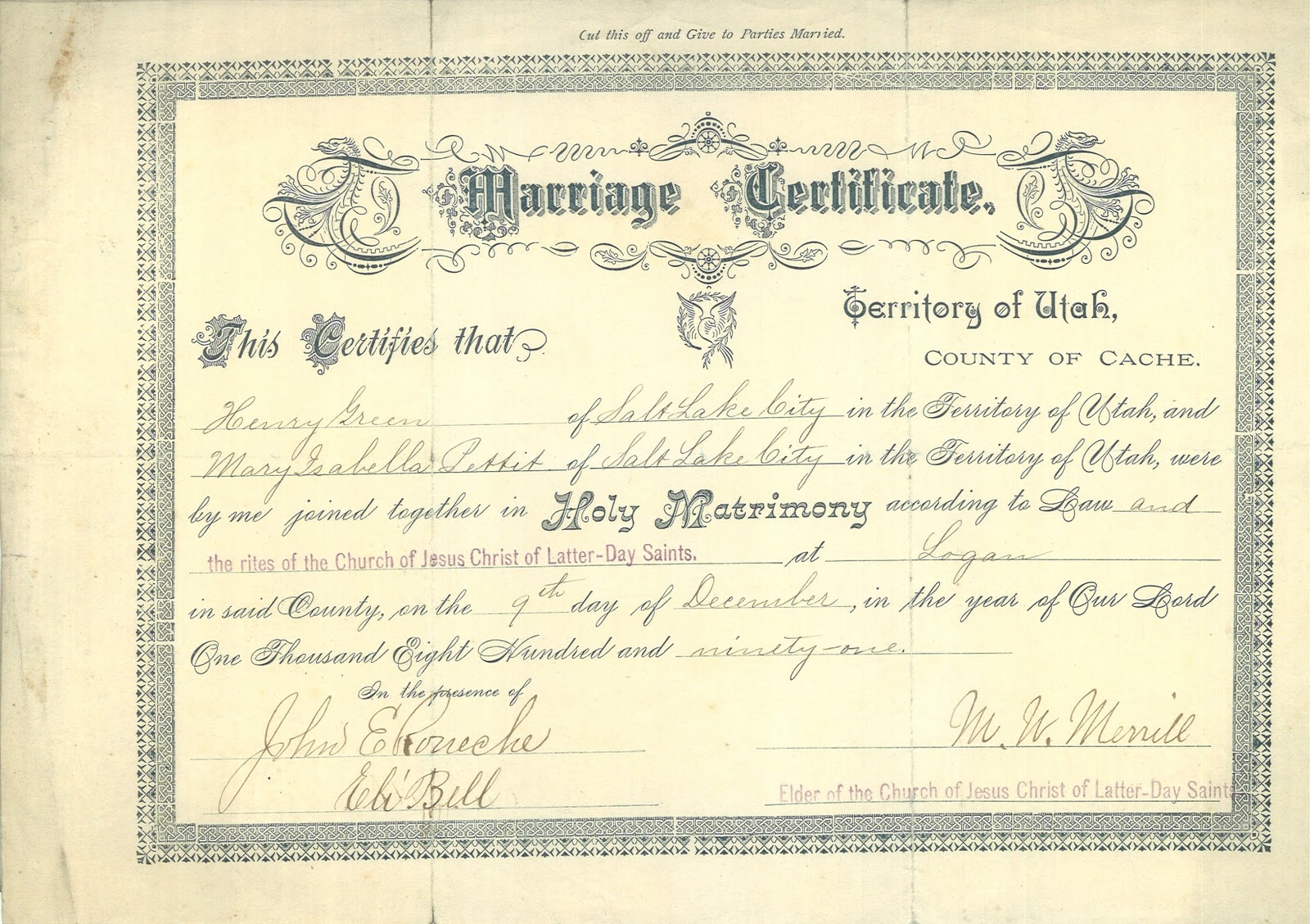 Theancestorfiles mary isabell pettit and henry green marriage mary isabell pettit and henry green marriage xflitez Image collections